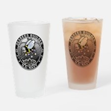 USN Seabees Builder BU Drinking Glass