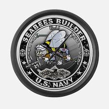 USN Seabees Builder BU Large Wall Clock