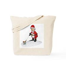 Golfing Santa Claus Tote Bag