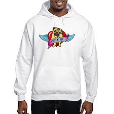 Pugs Banner Heart & Wings - I Hoodie