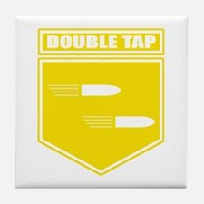 Double Tap Root Beer Tile Coaster