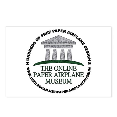 Online Paper Airplane Museum Postcards (Package of