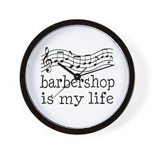 Barbershop Is My Life Gift Wall Clock