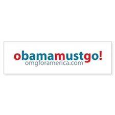obama_must_go_long Bumper Bumper Sticker