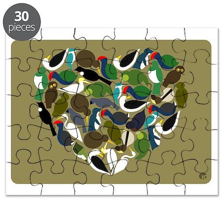 NZ Birds Heart Puzzle