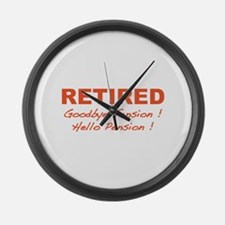 Retired Large Wall Clock