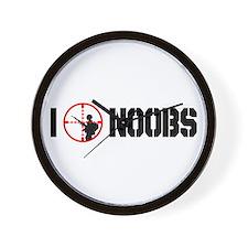 I Kill Noobs Wall Clock