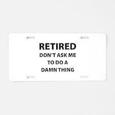 Retired Aluminum License Plate