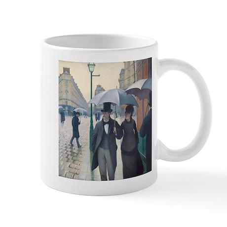 Rainy Day in Paris, Caillebotte Mug