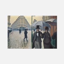 Rainy Day in Paris, Caillebotte Rectangle Magnet