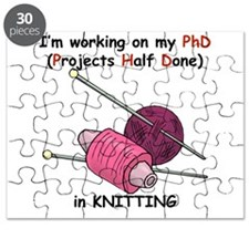 Knitting PhD (projects half d Puzzle