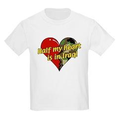 Half My Heart is in Iraq (NEW) Kids T-Shirt