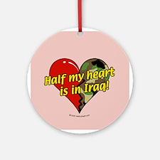 Half My Heart is in Iraq (NEW) Keepsake (Round)