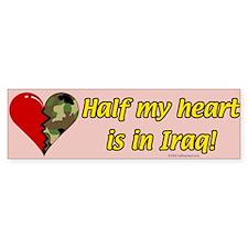 Half My Heart is in Iraq (NEW1) Bumper Bumper Sticker