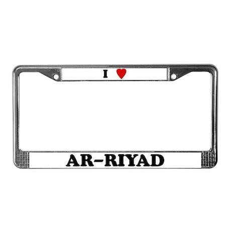 I Love Ar-Riyad License Plate Frame
