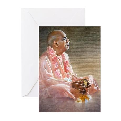 Srila Prabhupada Playing Kartals Cards (Pk of 10)