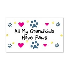 All My Grandkids Have Paws Car Magnet 20 x 12