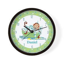 Monkey in Tub Bathroom Wall Clock - Daniel