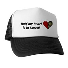 Half my heart is in Korea Hat