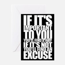 Way-Excuse Greeting Cards (Pk of 20)