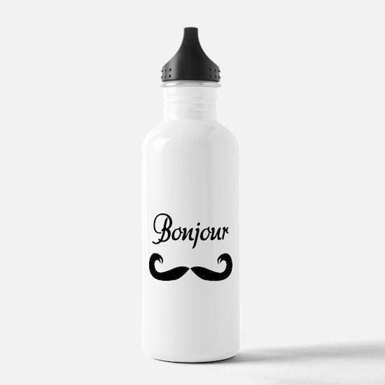 Bonjour Moustache Water Bottle