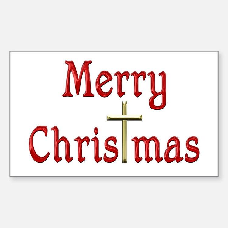 ChrisTmas Sticker (Rectangle)