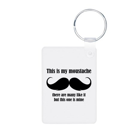 This is my moustache Aluminum Photo Keychain