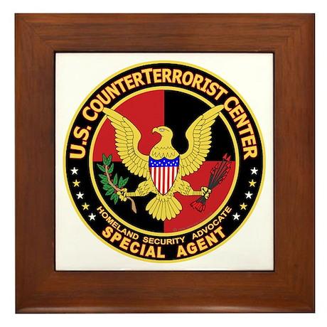 U.S. Counter Terrorist Center Framed Tile