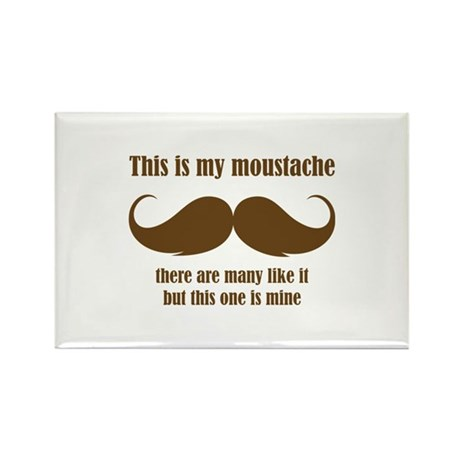 This is my moustache Rectangle Magnet (10 pack)