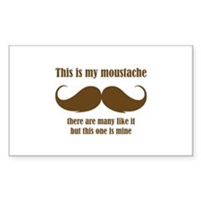 This is my moustache Decal