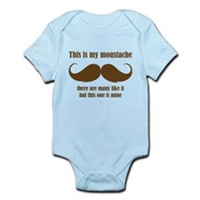 This is my moustache Infant Bodysuit