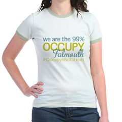 Occupy Falmouth Jr. Ringer T-Shirt
