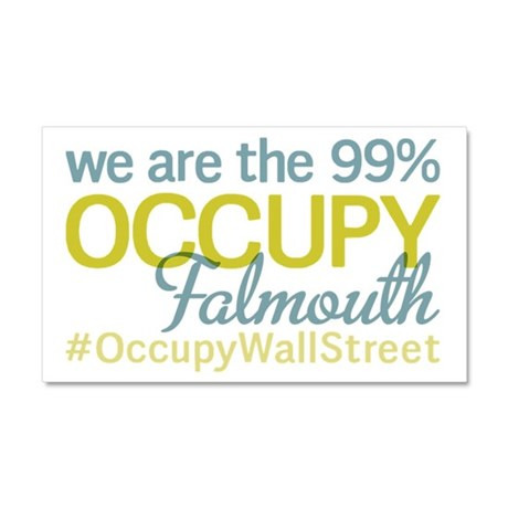 Occupy Falmouth Car Magnet 20 x 12