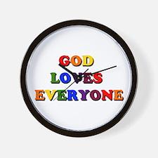 God Loves Everyone Wall Clock