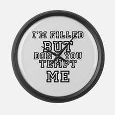 Cool Funny slogans Large Wall Clock