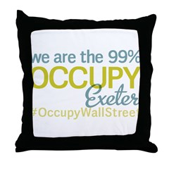 Occupy Exeter Throw Pillow