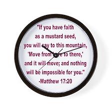 Faith as a Mustard Seed Wall Clock