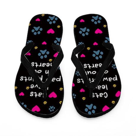 Cats Leave Paw Prints Flip Flops