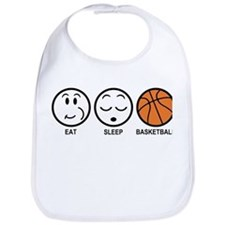 Eat Sleep Basketball Bib