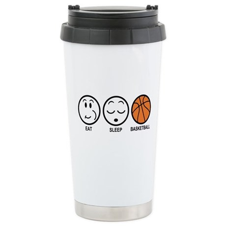 Eat Sleep Basketball Stainless Steel Travel Mug