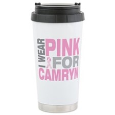 I wear pink for Camryn Travel Coffee Mug