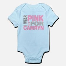 I wear pink for Camryn Infant Bodysuit