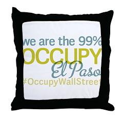 Occupy El Paso Throw Pillow