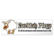 Scottish Pimp Bumper Bumper Sticker