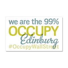 Occupy Edinburg Car Magnet 20 x 12