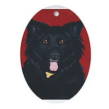 Licorice Dog Oval Ornament