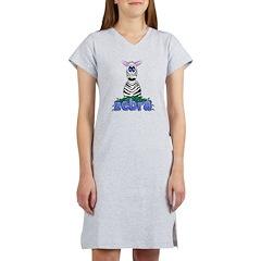 Cartoon Zebra Women's Nightshirt