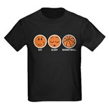 Basketball girl Kids T-shirts (Dark)