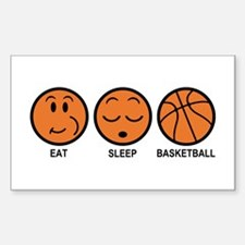 Eat Sleep Basketball Decal