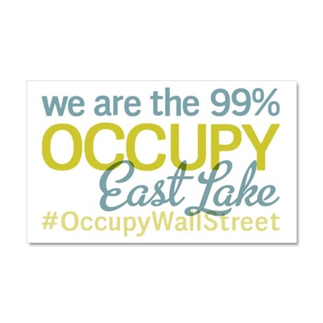 Occupy East lake 37407 Car Magnet 20 x 12